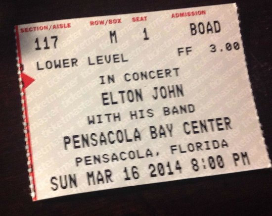Pensacola Civic Center: Elton John Ticket