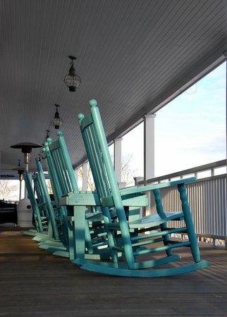 Harbor View Hotel : Rocking Chairs on the Veranda