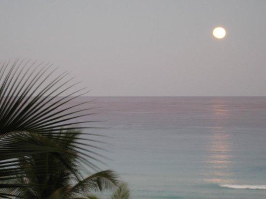 Grand Park Royal Cancun Caribe: Vue de notre chambre, côté gauche de l'hôtel.