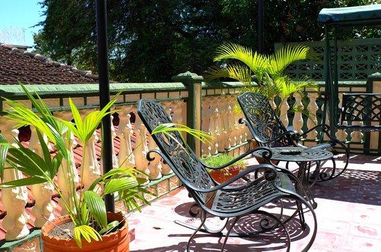 Hostal Colonial: Terrasse