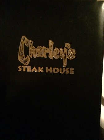 Charley's Steak House & Seafood Grille: Front of Menu!