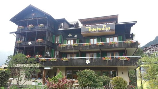 Hotel Edelweiss: Outside - front