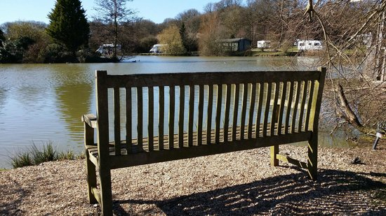 Sumners Ponds : The bench in front of our van