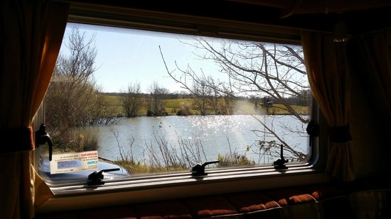 Sumners Ponds: a view from the side window of the van