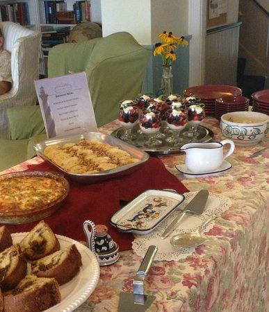 Five Gables Inn Breakfast Buffet