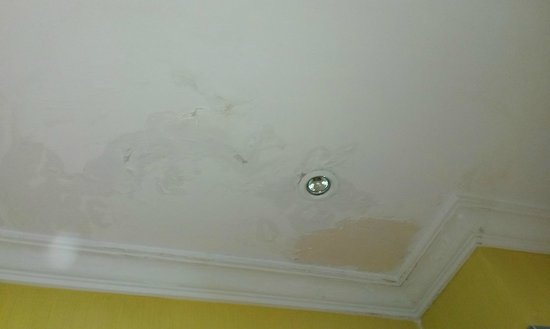 Hotel Spa Villalba: Longstanding leak and peeling paint
