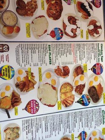 Waffle & Pancake Shoppe : Partial menu