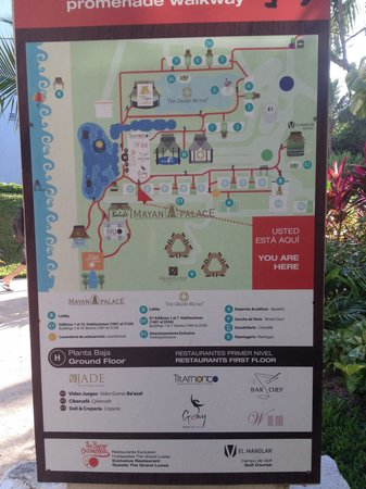 Mayan Palace Riviera Maya: Resort Map