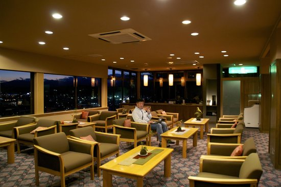 Takayama Kanko Hotel: Reception area's sitting lounge