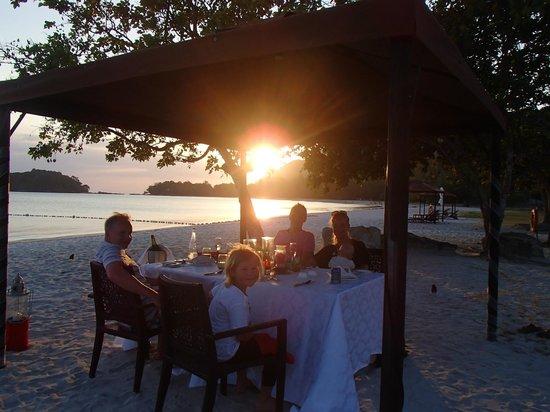 The Danna Langkawi, Malaysia : Beachdinner