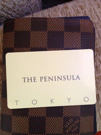 The Peninsula Tokyo: key card