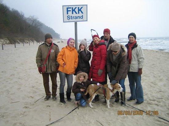 Loddin, Almanya: Im Winter am FKK-Strand
