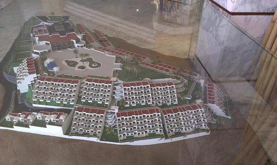 Servatur Puerto Azul: Miniaturemodel af hotellet
