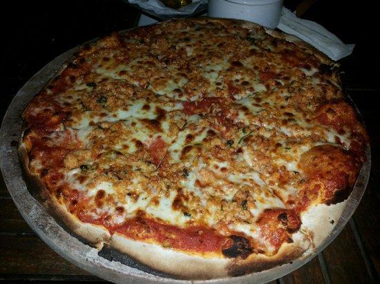 Koox Quinto Sole Boutique Hotel: Pizza con aragosta Buona come buona anche la focaccia accompagnata da piatto di pesce