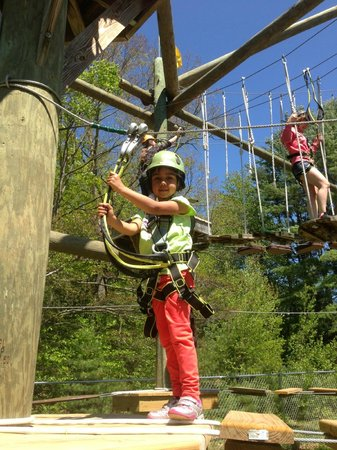Chocorua, NH: The littlest of monkeys can enjoy the course on the Kids' Course, only 6' off the ground!