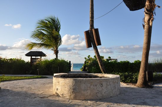 Grace Bay Club: Fire pit during the day