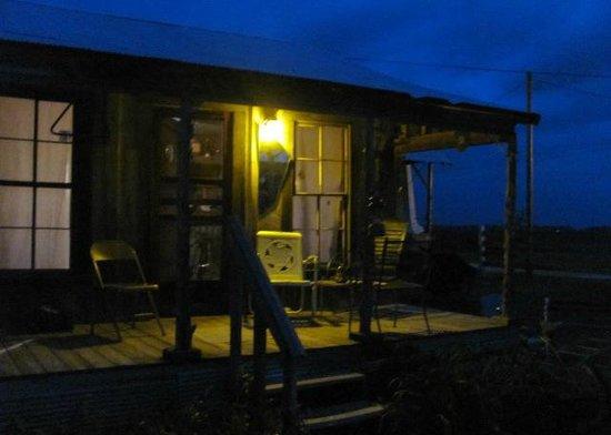 Shack Up Inn: Tha Caddilac Shack at dusk.