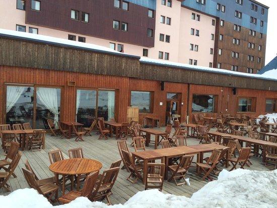 Club Med Aime la Plagne: superbe terrasse