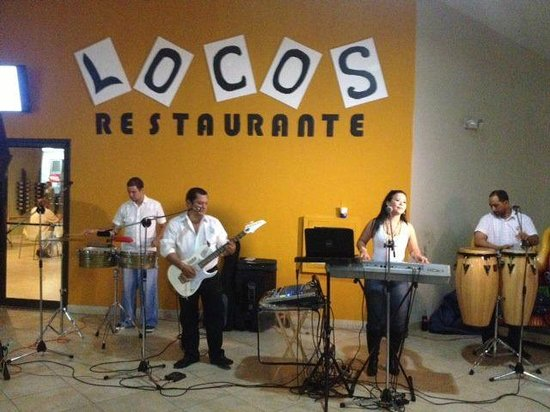 Locos Coronado Grill: Our First full live band at Locos!