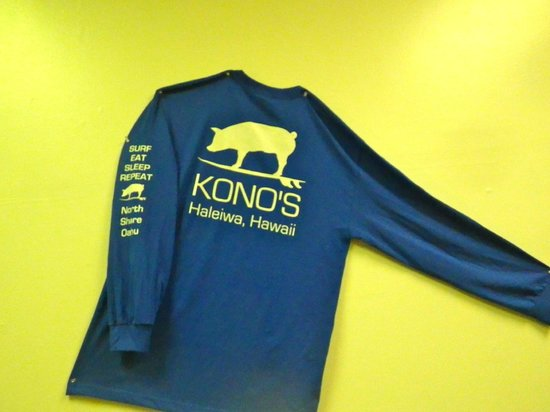 Kono's Restaurant: and you can buy a shirt