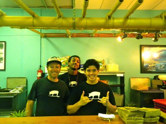 Kono's Restaurant: Three surf bums who work to support their habits
