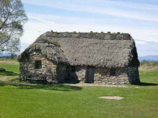 Culloden Battlefield : Originalhaus am Schlachtfeldrand