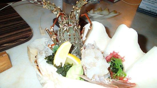 Unkaizan: Lobster sashimi