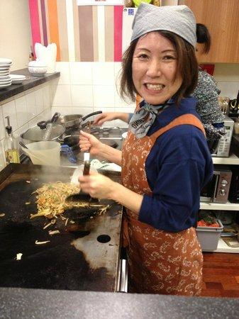 Maido - Japanese Noodle Bar: Kyoko the talented chef!