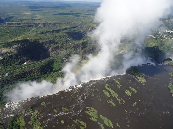 Victoria Falls Safari Club: Victoria falls from helicopter
