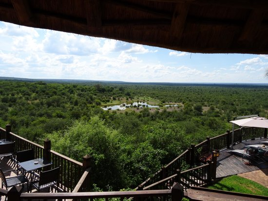 Victoria Falls Safari Club: View from the lodge restaurant