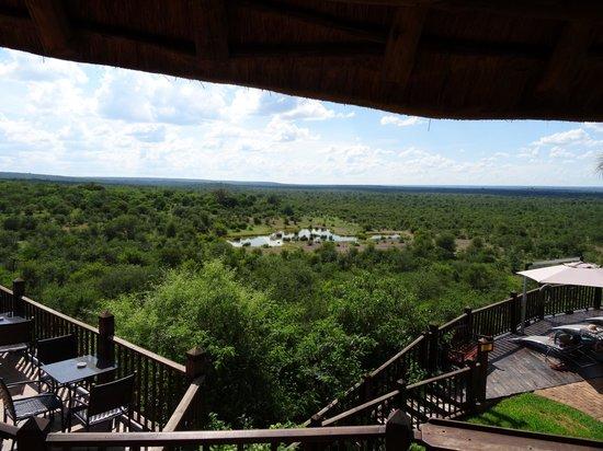Victoria Falls Safari Club : View from the lodge restaurant