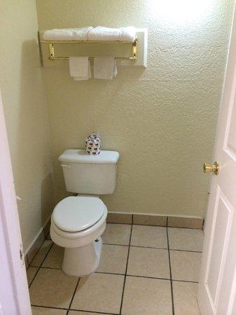 Budget Inn: Bathroom