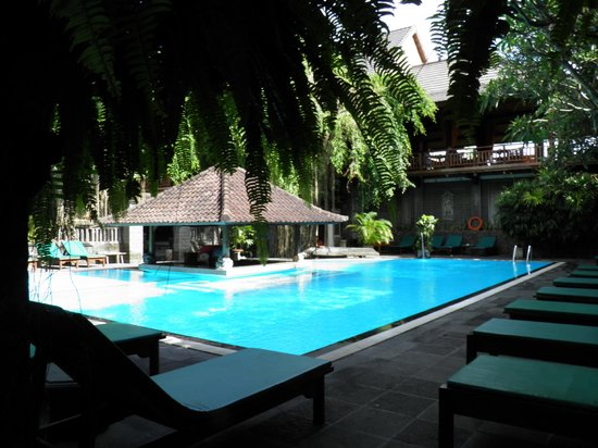 Hotel Puri Bambu : piscine