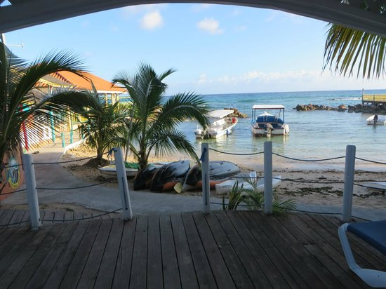 Franklyn D Resort & Spa : View from our front deck, #38.  Walk right out and get on the beach!