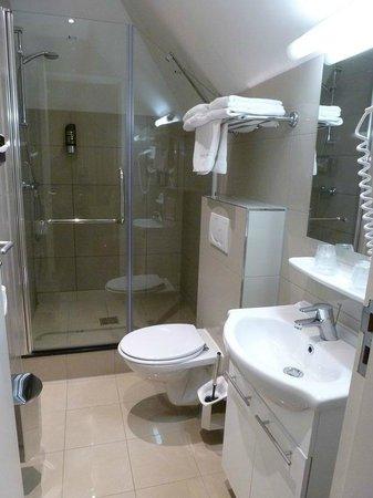 Hotel Iron Horse: Baño pequeño pero con lo necesario