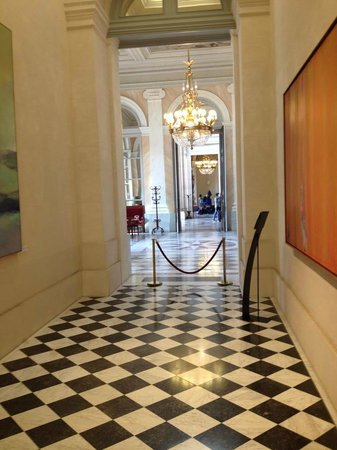 Assemblee Nationale: A hallway inside the National Assembly