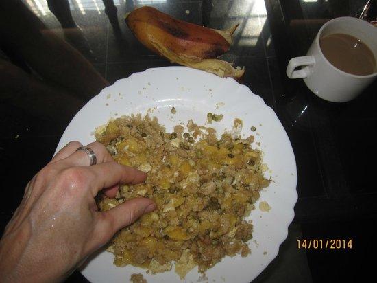 Vedic Heritage Boutique Hotel: ...Frühstück nun zum Verzehr mit der Hand zerkleinert, ein Erlebnis