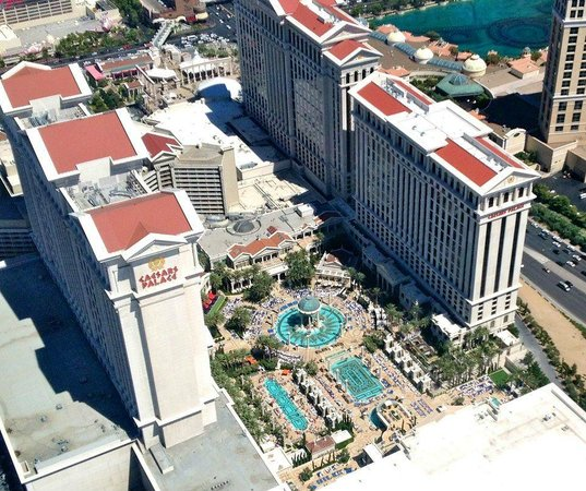Caesars Palace: View from Helicopter