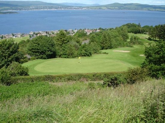 The Firth of Clyde and Gourock Golf from Lyle Hill
