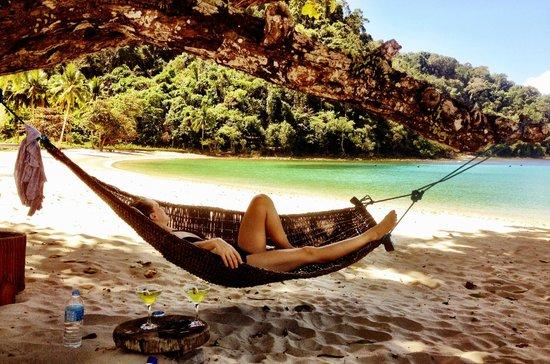 Secret Paradise Resort & Turtle Sanctuary : farniente hammac