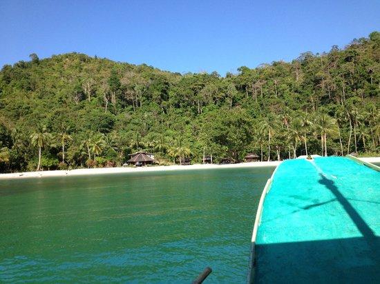 Secret Paradise Resort & Turtle Sanctuary : arrivée sur l ile
