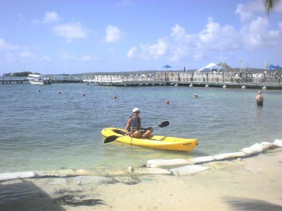 GHL Relax Hotel Sunrise : praia privada e caiaque do hotel