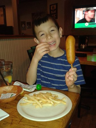 Nick's Steak and Seafood : Little guy with a big Corndog!