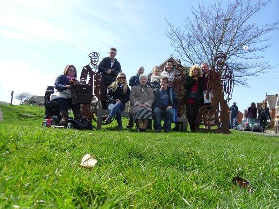Weymouth Portland Railway Walk: Our group