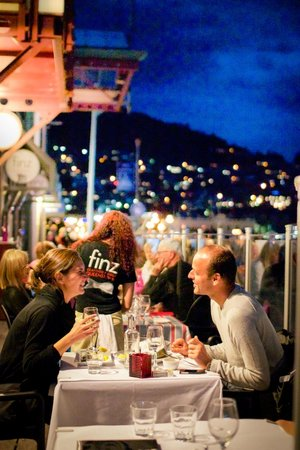 Superb outdoor dining at Finz Seafood & Grill