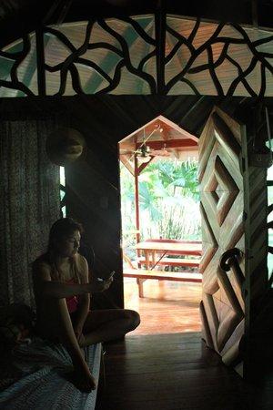 Hotel La Costa de Papito : View from inside the bungalow