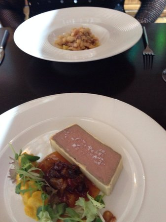 Fusion: Pâté and squid starters