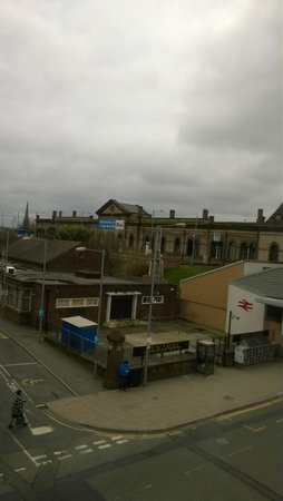 The Kings Head Pub & Hotel: View from window of railway station