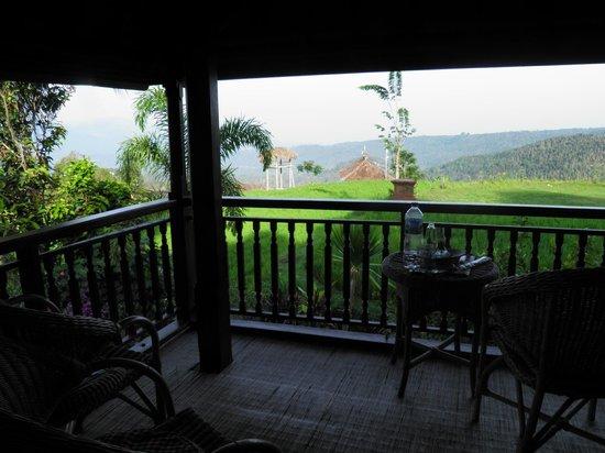 Puri Lumbung Cottages: vue de notre chambre, magique