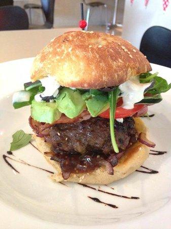 Eruption Cafe: The Eruption Burger